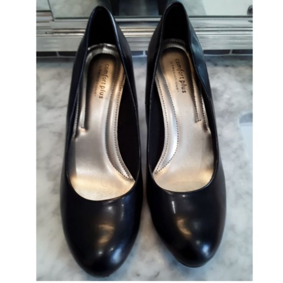 Comfort Plus By Predictions Shoes Comfort Plus Black High Heels By Predictions 95 Poshmark